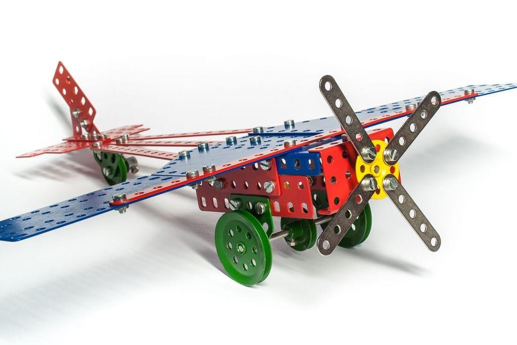 merkur-stavebnica-retro-lietadlo-detska-hracka